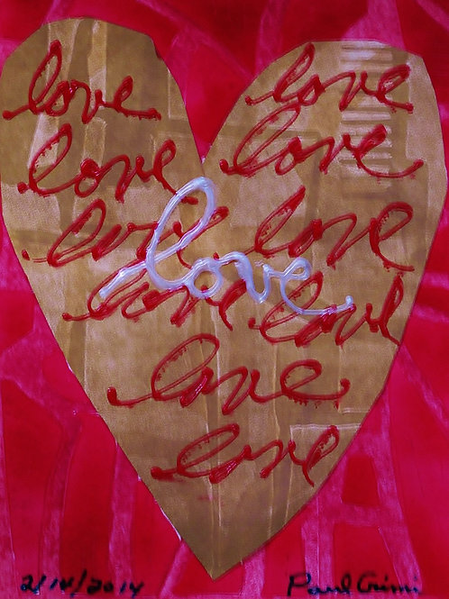 """Grusskarte """"Love"""" rot"""