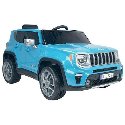 Macchina Elettrica per Bambini 12V Jeep Renegade Azzurra
