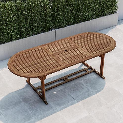 Tavolo da giardino legno di acacia allungabile ovale 180-240 cm