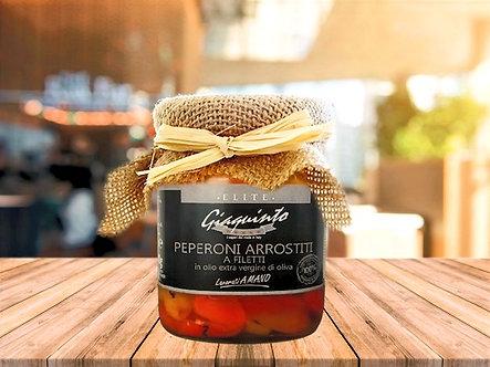 Artisanal slices peppers in extra virgin olive oil