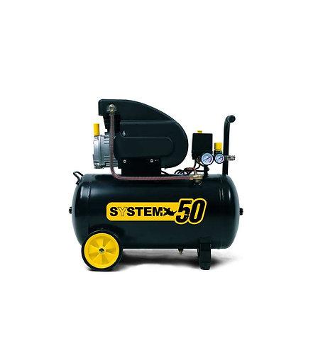 Compressore aria lubrificato ad olio 50 LT- SYSTEM+