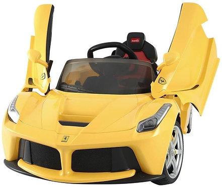Macchina Elettrica per Bambini 12v La Ferrari Gialla