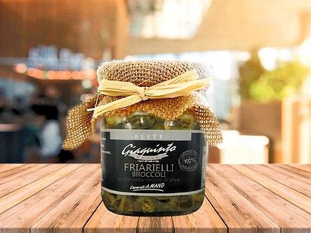 Artisanal broccoli friarielli in extra virgin olive oil