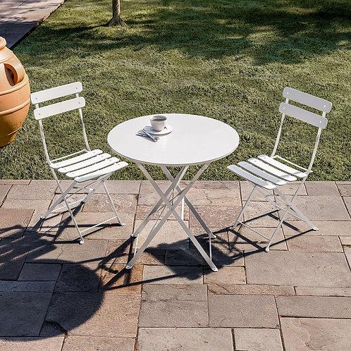Set tavolino con due sedie pieghevoli