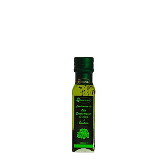Evo oil flavoured with basil – bottle format