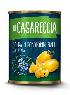 Chopped yellow baby tomatoes - polpa di pomodorini gialli cube