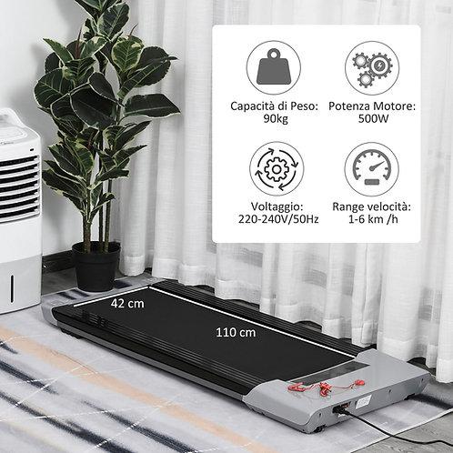 Tapis roulant elettrico slim con telecomando