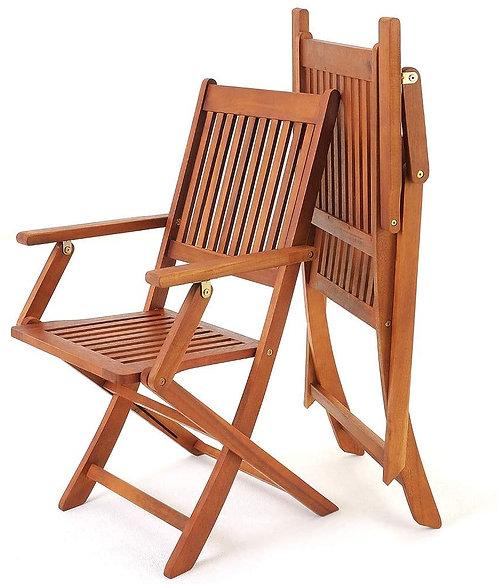 Set due sedie in legno