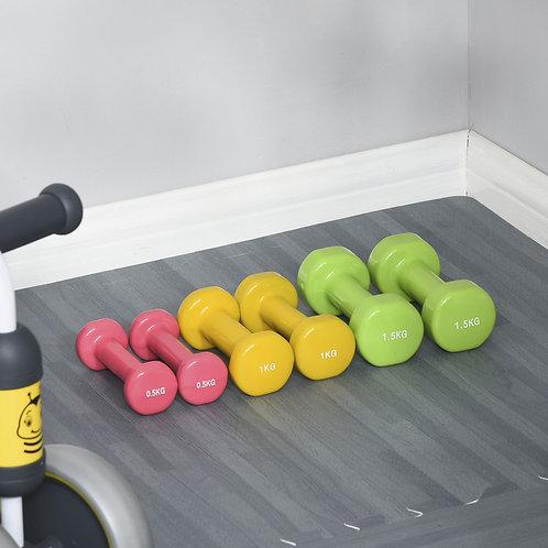 Kit 6 pesi fitness per allenamento