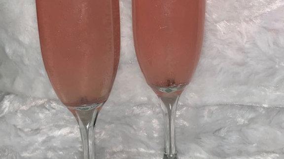 Rose' Gel Champagne Flutes