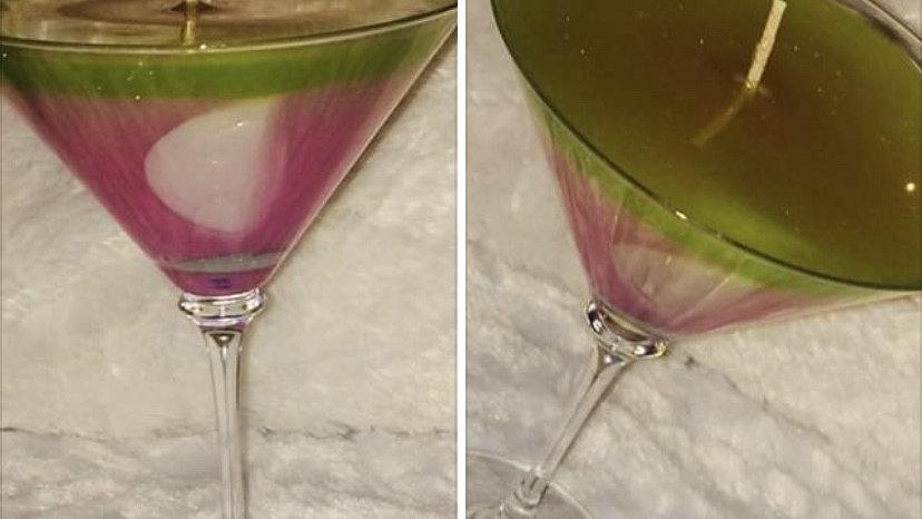 Watermelon Martini Gel Candle