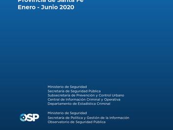 Homicidios en la provincia de Santa Fe, Informe semestral (enero-junio 2020)