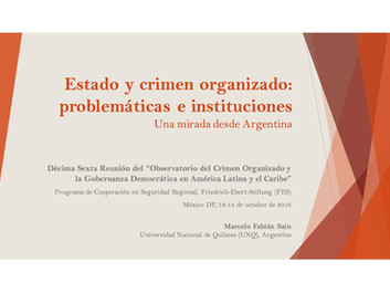 Estado y crimen organizado: problemáticas e instituciones. Una mirada desde Argentina