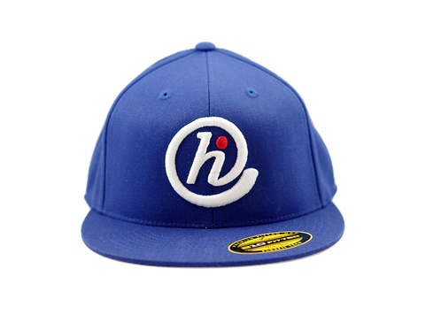 @HI Premium 6 Panel Flat Bill Flexfit - Blue, White & Red