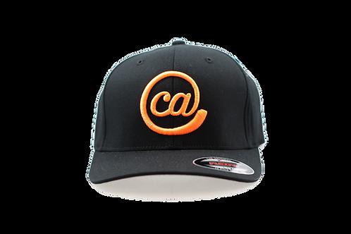 @CA 6 Panel Curved Bill FlexFit - Black & Orange