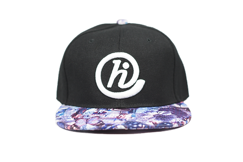 Black and Floral 2 @HI 6 Panel Snapback