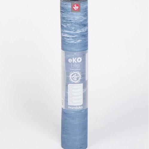 eKO lite Yoga Mat 4mm -Ebb Marbled Blue