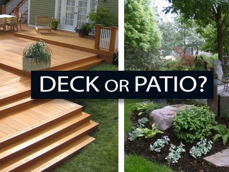 Patio or Deck? Which is better for you?