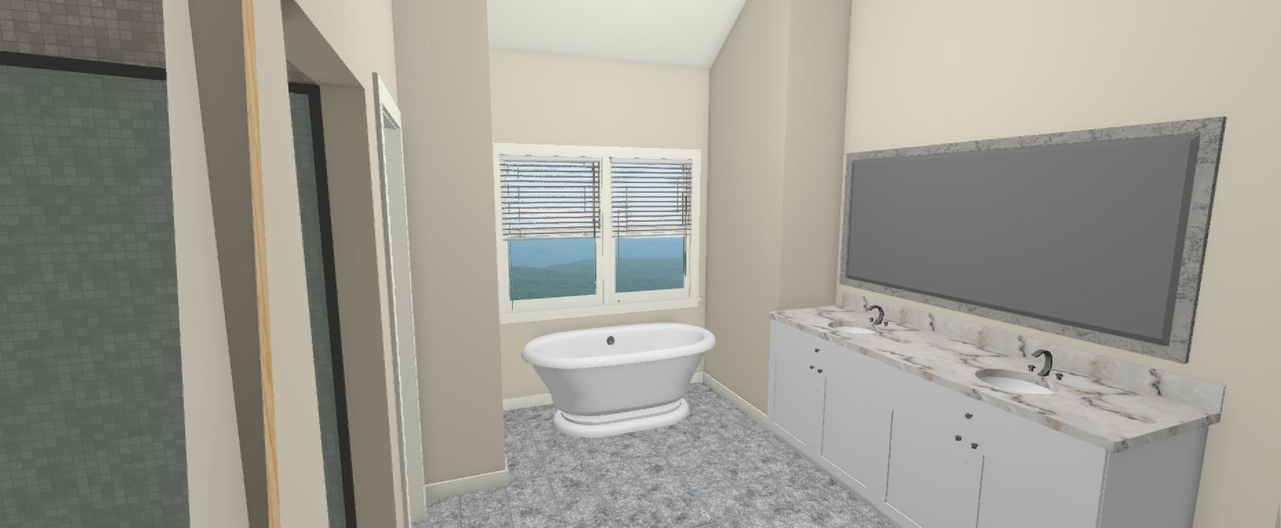 Brian and Shana 3D Bath view 2