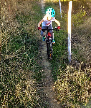 Sarah nails her first single track aged 5