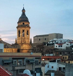 Bell tower of Iglesia del Incarnacion from Richard Parkes roof terrace