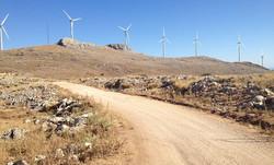 39 wind turbines on the mountain above Loja (1500m)