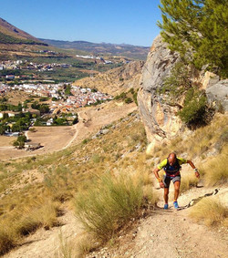 Bushwhacking up the front of El Hacho trying to scope the route for Stone Race.jpg