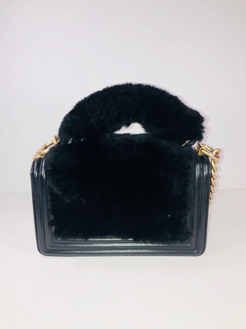 081d0c0c4fb274 Size/Style: Small/ Chanel Black Fur Mini Chain Bag Retail Price: N/A