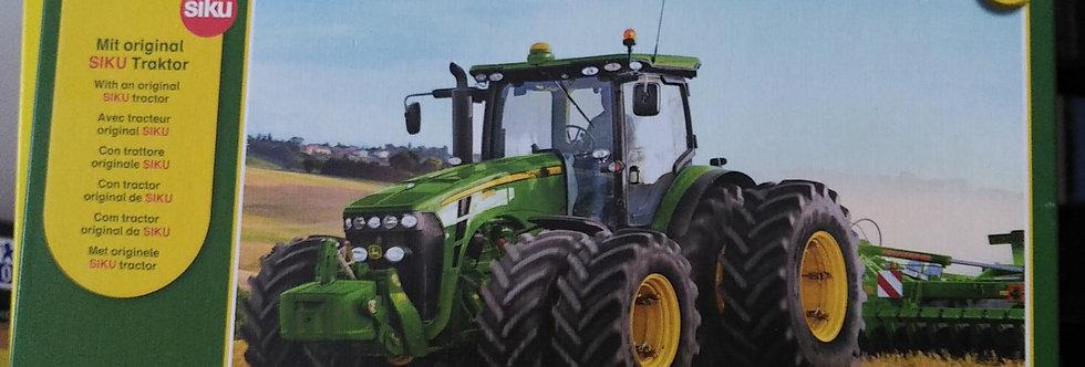 John Deere Puzzle 100 Teile mit Siku Metallmodell Traktor John Deere