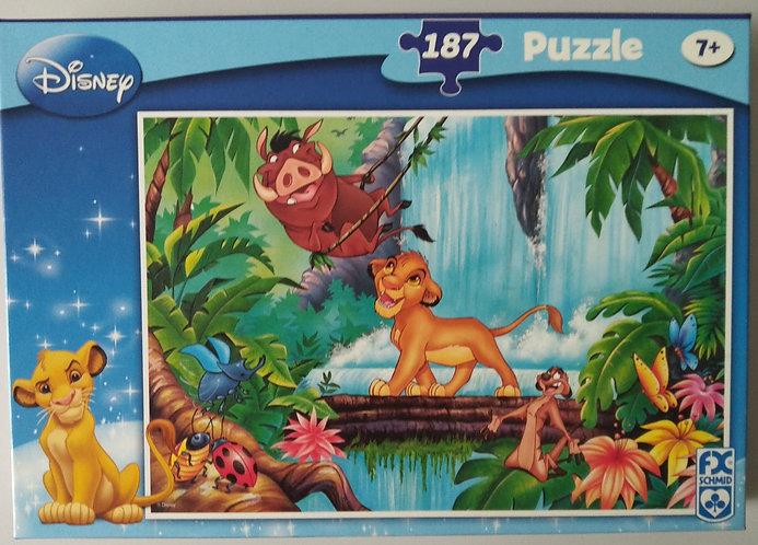 Disney Puzzle, 187 Teile, Simba und seine Freunde