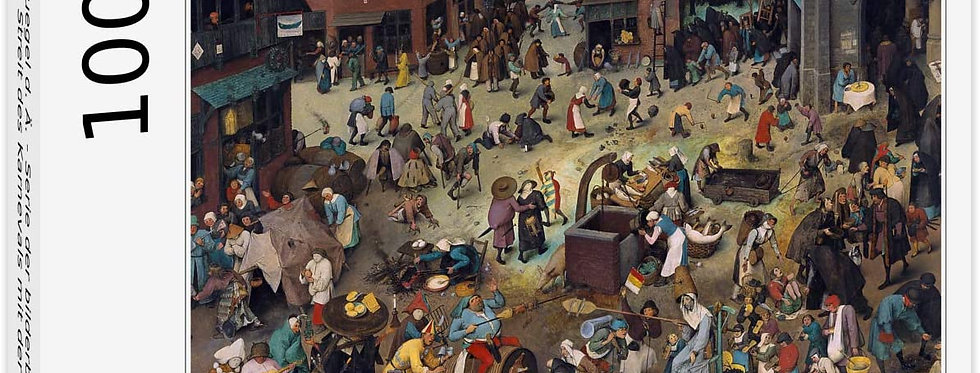 Puzzle Pieter Brueghel d. Ä. - Streit des Karnevals mit der Fastenzeit