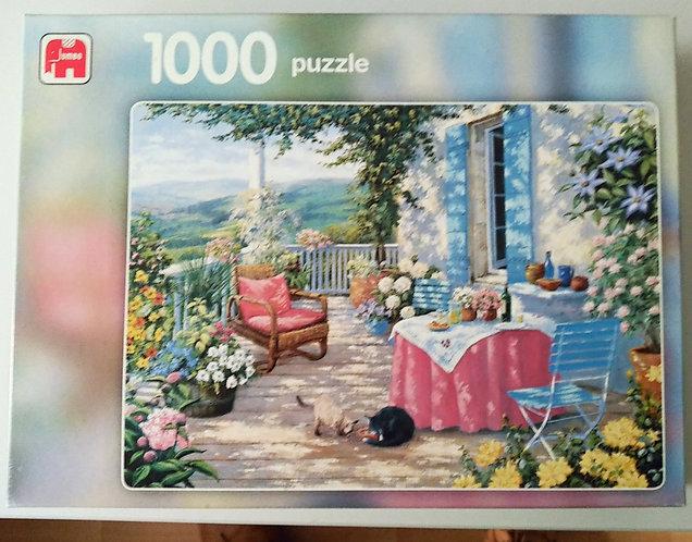 Puzzle 1000 Teile, Verandaromantik