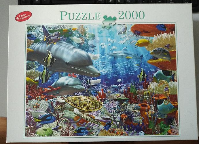 """Puzzle 2000 Teile """"Unterwasserwelt"""""""
