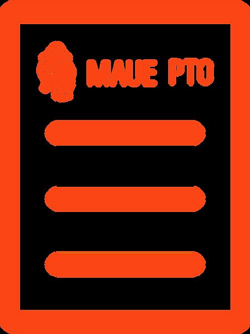 MAUE PTO Registration Orange Level Membership