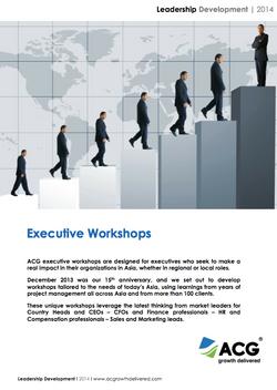 Executive Workshops