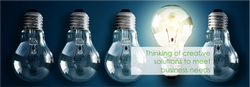 Thinking of creative solutions to meet business needs