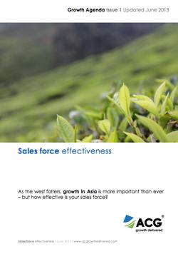 Salesforce Effectiveness