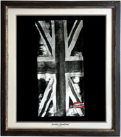 -Union Black- シルクタッチスカーフ SundaySpeed フランス製