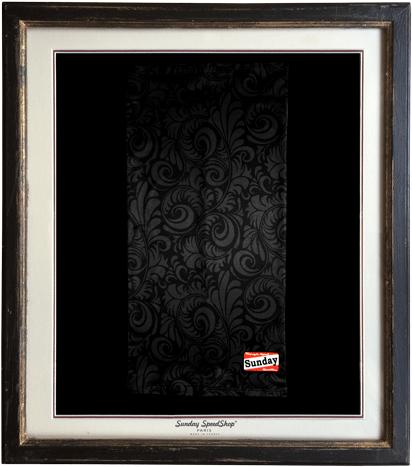 -Noir- シルクタッチスカーフ SundaySpeed フランス製