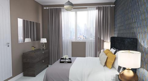 Hotel chic master bedroom