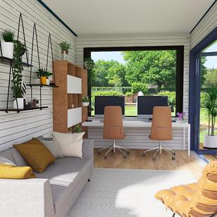 Brigita's WFH garden room
