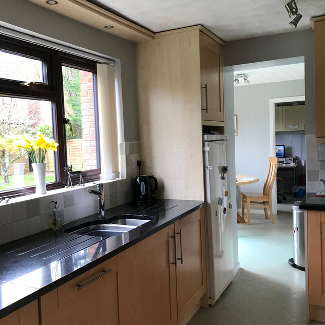 Sue's galley kitchen