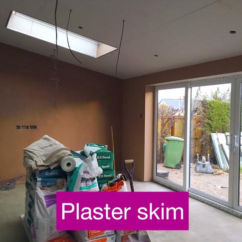 First skim plaster