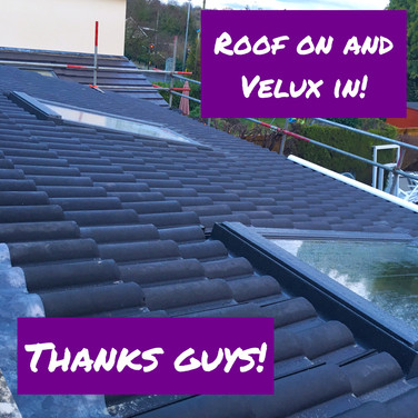 Roof on and velux in