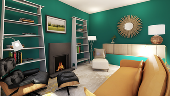 Vibrant contemporary scheme