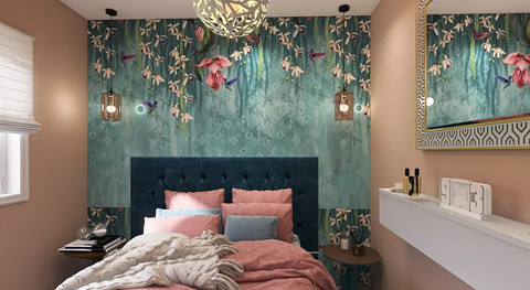Trailing orchids bedhead wallpanel