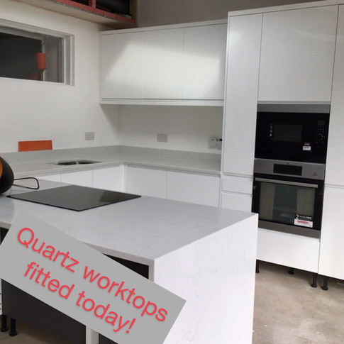 Quart worktops fitted