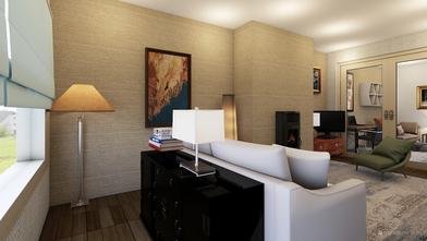 Neutral decor shows off original artwork