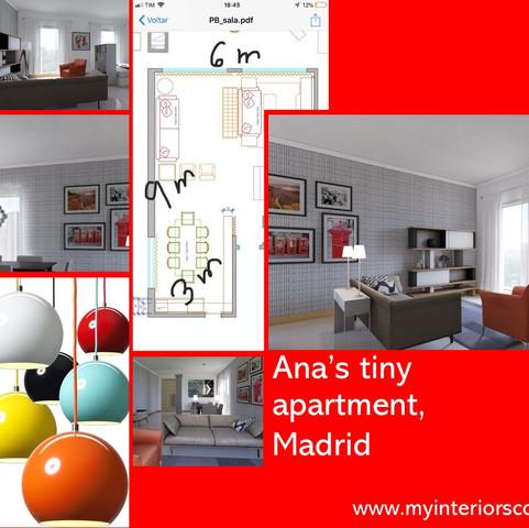 Ana's tiny apartment, Madrid