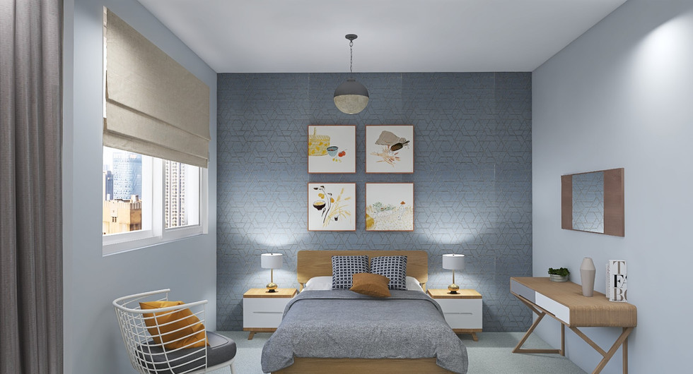 Guest room, light and airy
